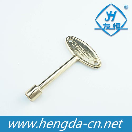 YH1109 Golden universal key for tubular cam lock