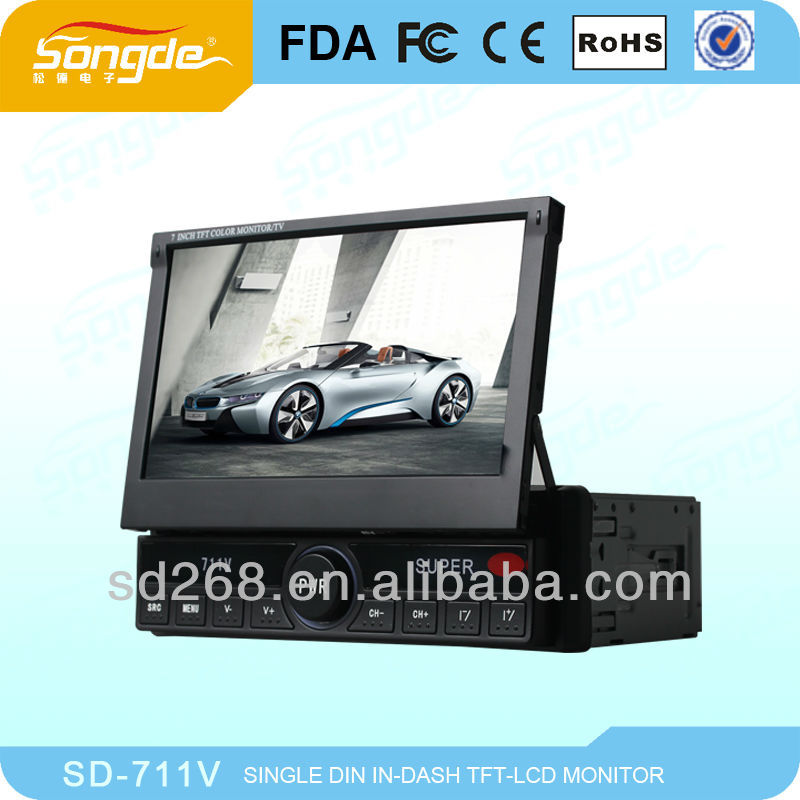 2013 hot sell single din car dvd with 7 inch screen with navigation system