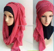 New Style Fashion Chiffon Instant Shawl Hijab Slip on Shawls Hijabs Plain Scarf, latest scarf designs