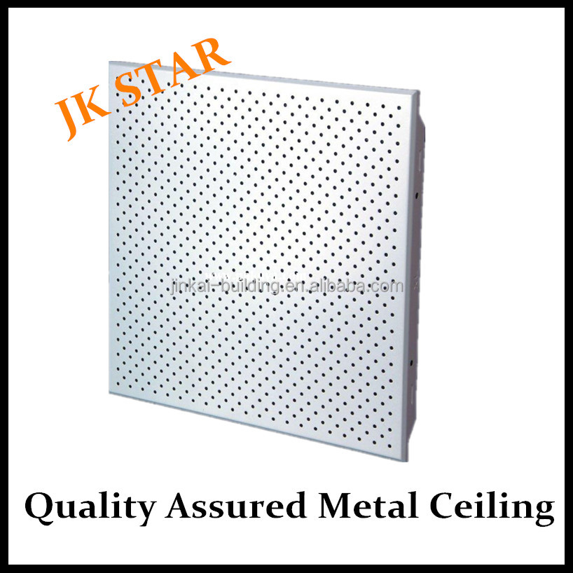 Humidity fire resistant Soundproof metal ceiling Aluminum clip-in plain or perforated tiles