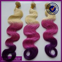 Golden supplier hot selling raw unprocessed multi-colored braiding hair