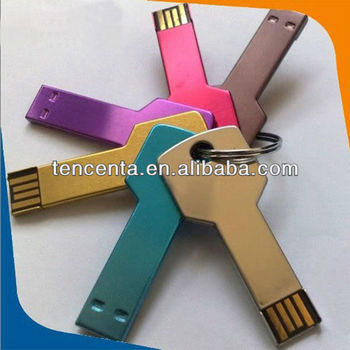 4GB Promotional usb flash disk key shape usb flash memory logo printied usb drives