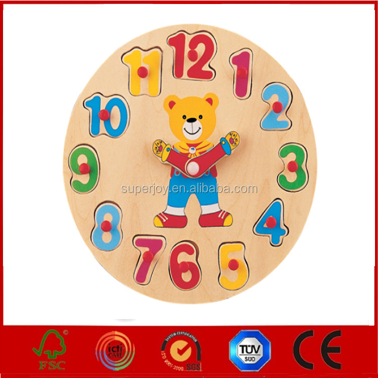 Hot new product for Lovely wooden puzzle toy,Educational toy wooden puzzle toy,Alarm Clock Educational Puzzles