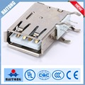 2016 hot selling 4pin USB connector a type male 90 degree usb connector