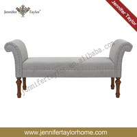 Traditional U shape fabric bench/ used for bedroom furniture