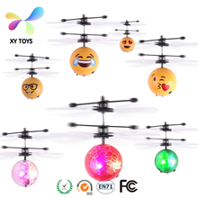 RC remote control flying Helicopter XY-102 flash Led Ball cartoon model plastic doll kids Electronic toys