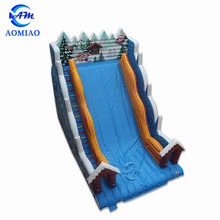 Inflatable inflatable winter christmas slide big water slides for sale