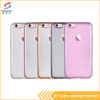 wholesale price Shockproof soft transparent Electroplating tpu cell phone case cover for apple iPhone 6 6s