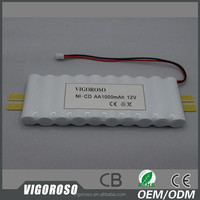 NICD battery rechargeable 12V AA 1Ah