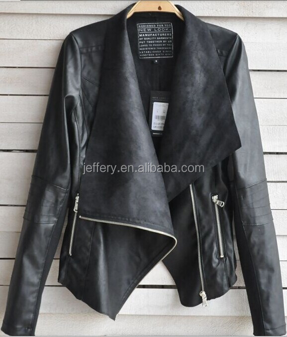 Women leather jacket autumn new arrival european famous style motorcycle jacket A327