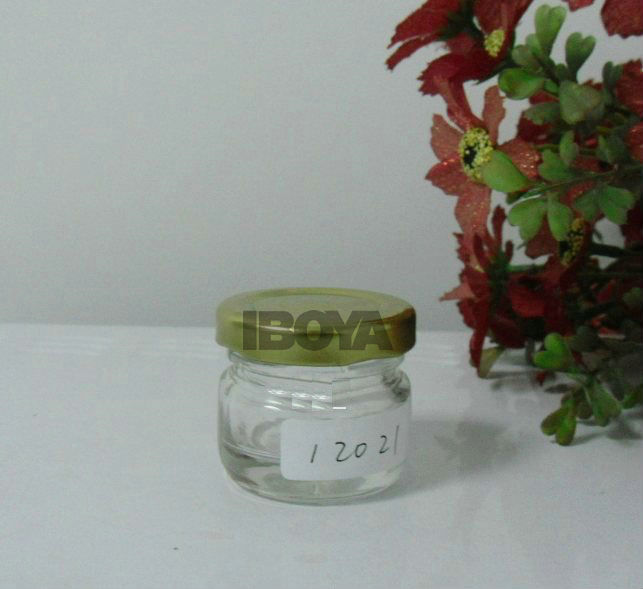 Glass Jar with golden lid