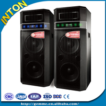 2.0 professional active stage speaker,2016 subwoofer karaoke innovative bluetooth big stage speakers with led light