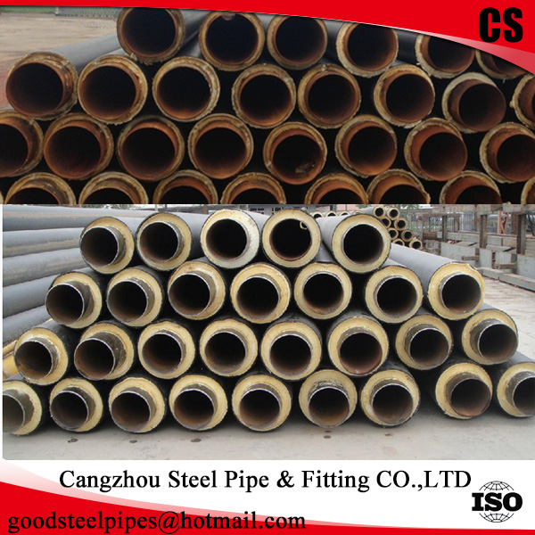 SCH 40 steel pipe Carrier pre insulation pipe