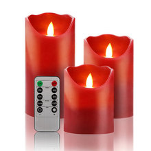 "4""5""6"" with 24-hour Timer Function LED Flameless decorative electric Candle"