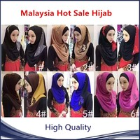 popular malaysia style muslim hijab many color in stock