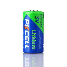 PKCELL LiMnO2 Non Rechargeable 1500mAh CR17345 CR123A Digital Camera Lithium Battery 3V CR123