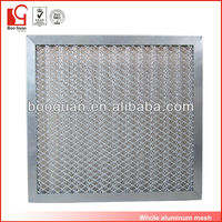 China suppliers aluminum mesh filters material