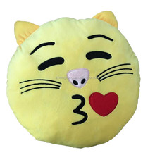 cute smiley face cushion custom plush emoji pillows newly made in China
