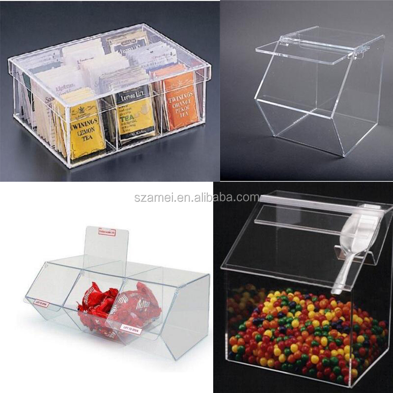 OEM factory to sell Clear Acrylic Candy Dispense display for Stackable Bulk Food Bin box