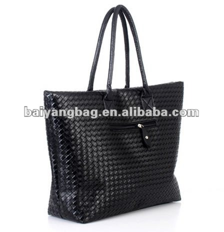 Black fashion PU leather lady handbag