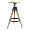 2015 new commercial adjustable 3 legged wooden stool with footrail