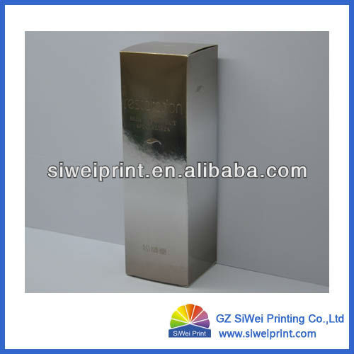2013 Silver Paper Box for Packaging