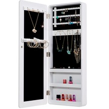 Fashion simple style wall mirror jewelry storage cabinet armoire