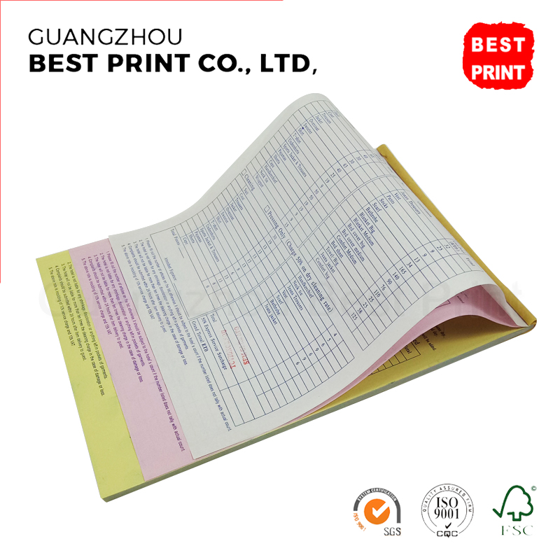 carbonless copy paper printing machine custom receipt book bill book design manufacturers