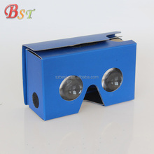 Factory wholesale custom printed cheap google cardboard vr headsets 3d glasses