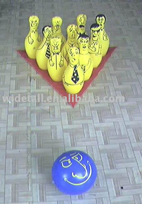 inflatable bowling set, inflatable bowling ball, inflatable toy, inflatable sport