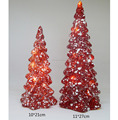 Beautiful christmas decorative glass christmas tree with led light for home/party/shop decoration
