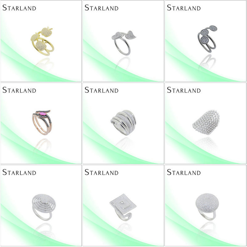 Starland Factory Price Hot Sell Silver Ring Jewelry pakistan