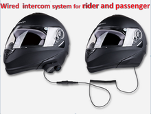 2017 New Design Rider to Rider Communication Bluetooth Interphone BT Motorcycle Helmet Headset Wired Intercom