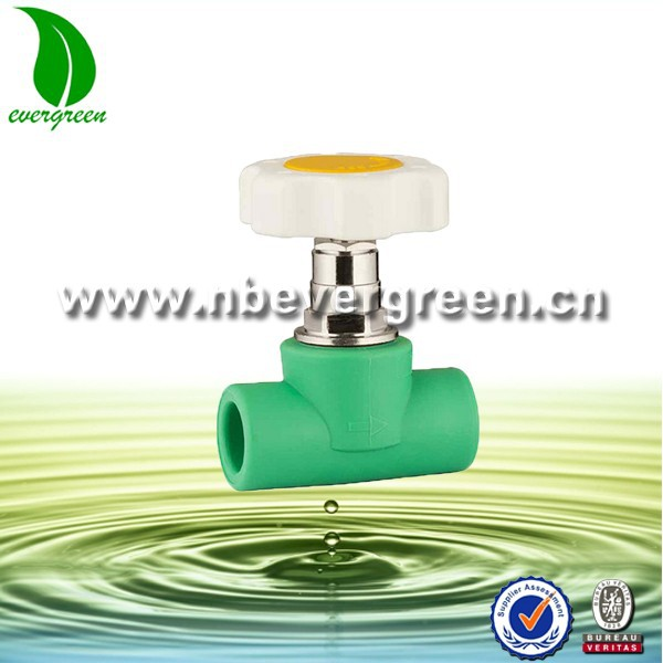 PPR Plastic Stop Tap Valve for Water Pipe