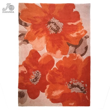 New design luxury Modern flower pattern Hand Tufted area Rug for home