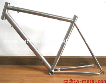 Titanium road bicycle frame with logo on frame customized bike part