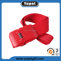 Password suitcase secure lock luggage belt strap with lock