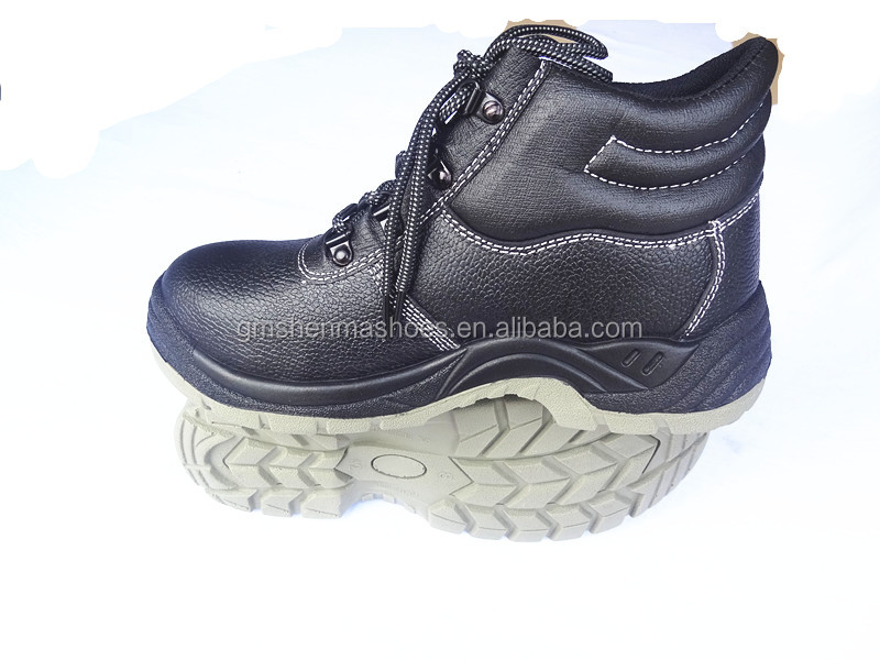 split smooth leather safety steel shoes, ESD work shoes ,SM702 labour safety product