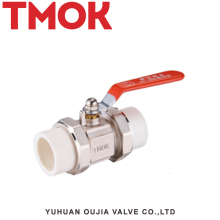 Red Handle Brass PP-R ball valve with double female union