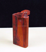 wooden dugout and one hitter glass