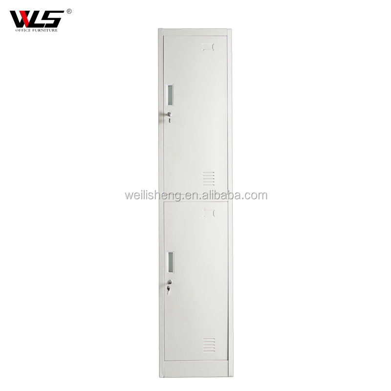 2 door different colour steel almirah metal clothing wardrobe locker