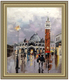 Building the street novel professional knife thick oil painting paintings of Venice