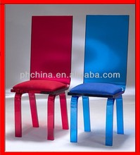 JAC-042 Lucite Color top grade Chairs,Customize PMMA Dining Chair