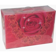 plastic box blanket packaging box with handle