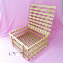 wholesale cheap shabby chic wood wine crate with lid