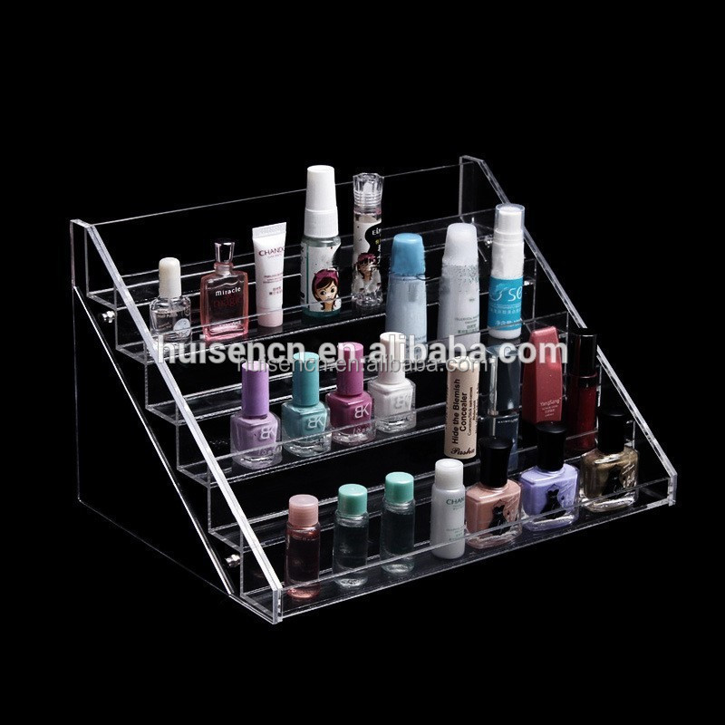 wall mount acrylic material nail polish display stand