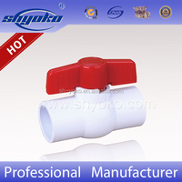 Free Sample PVC Compact Ball Valves UPVC Valve pvc ball valve price list