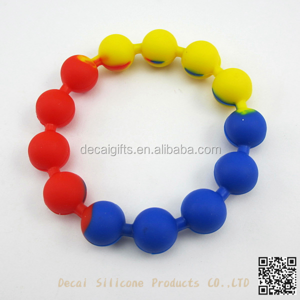 silicone mix color rubber bands smart bracelets elegant
