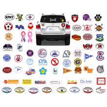 Custom shapes car magnet die cut stickers printing magnetic vinyl