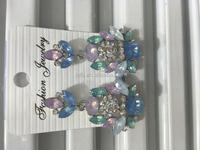 Wedding Big Jewelry Crystal Vintage Drop Dangle Long Earrings
